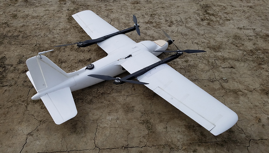 vertical take-off and landing fixed-wing Drone