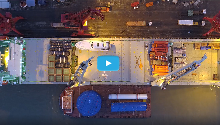 drone application in freighter loading