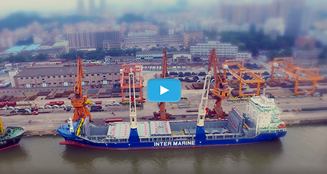 Drone Application Freighter Loading and Shipping