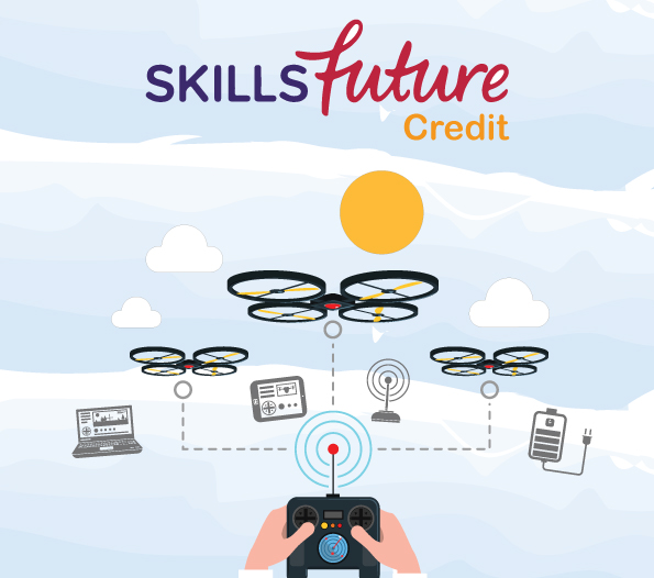 drone course landscaping singapore with SSG skillfuture credit